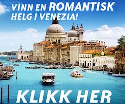 Vinn en romantisk ferie til Venezia