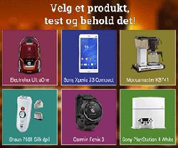 Test et valgfritt produkt og behold det