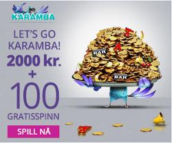 Få 2000 kr og 100 gratisspinn